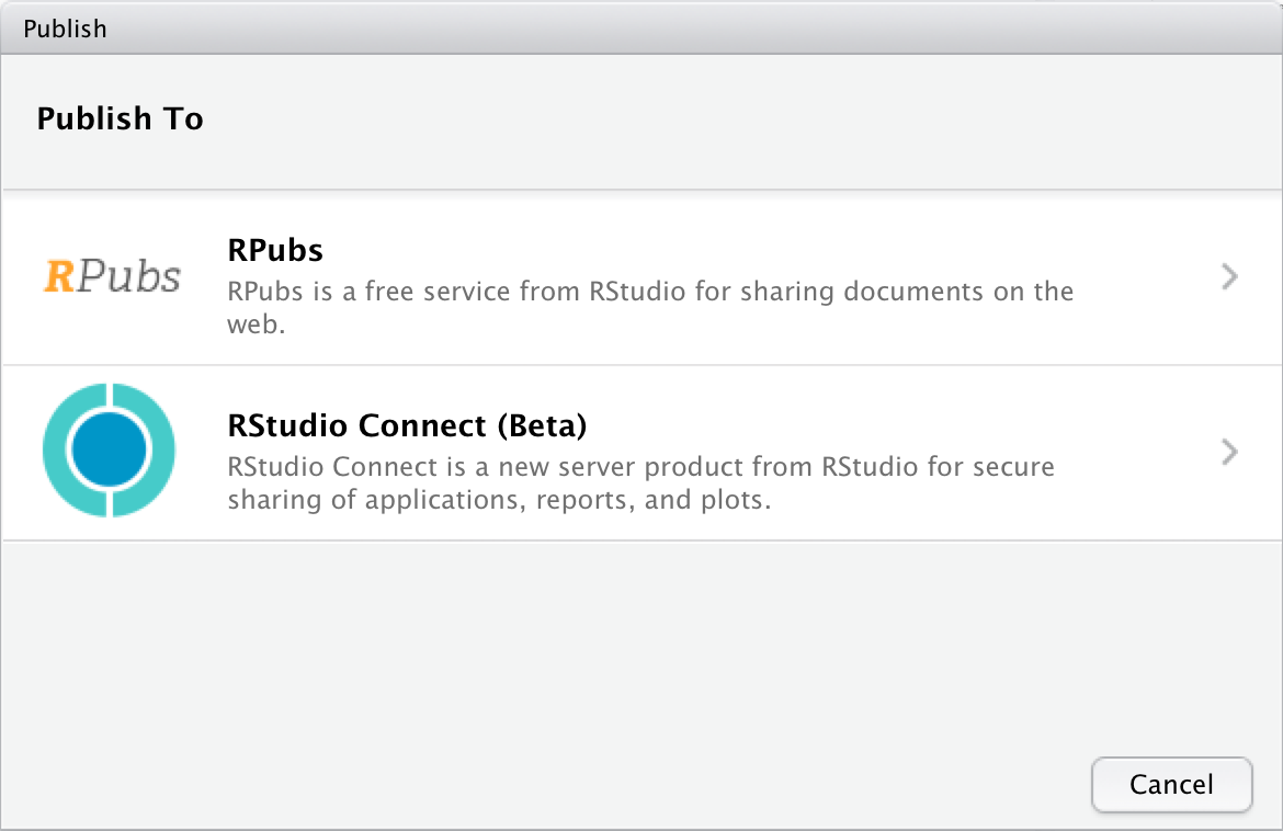 RStudio Connect: User Guide
