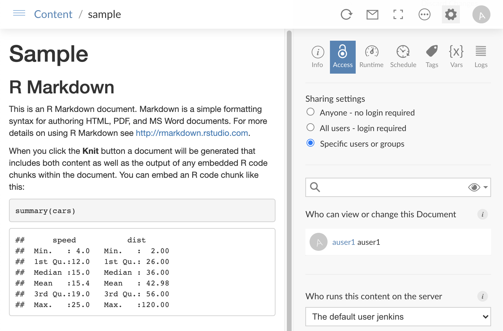 Publishing Rstudio Connect User Guide
